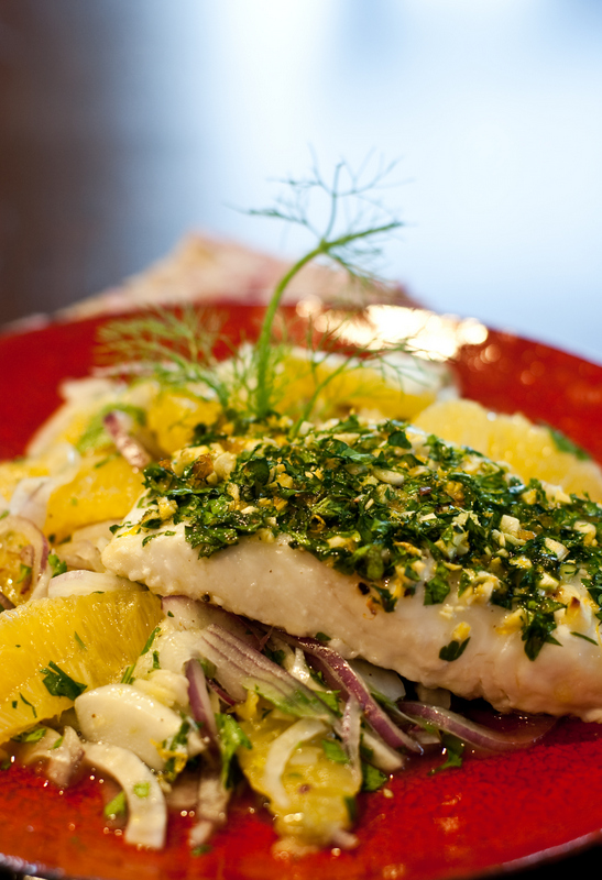 Roasted Halibut with Orange Gremolata | Kosher Cooking Concepts