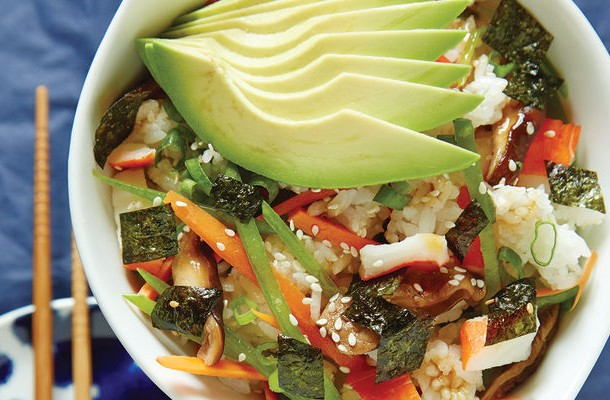 Sushi-Inspired Salads