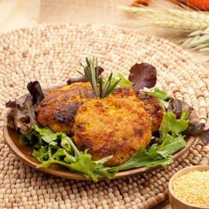 Savory Vegetable Millet Cakes