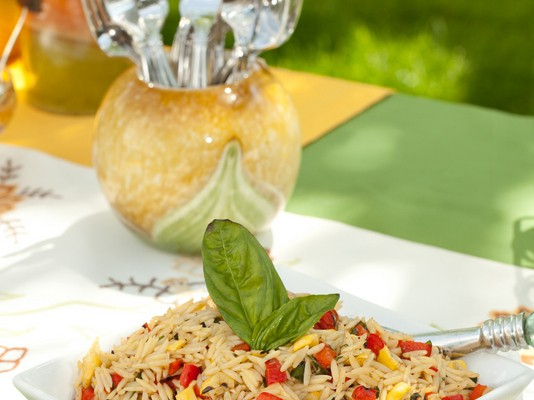 Orzo with Roasted Red Peppers