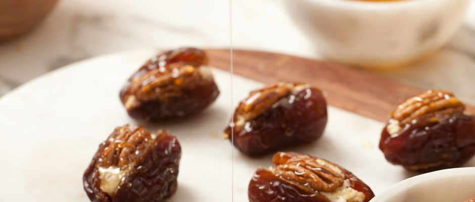 Stuffed Dates with Goat Cheese